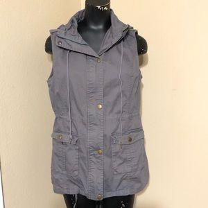 Mark & Spruce Sleeveless Gray Utility Jacket